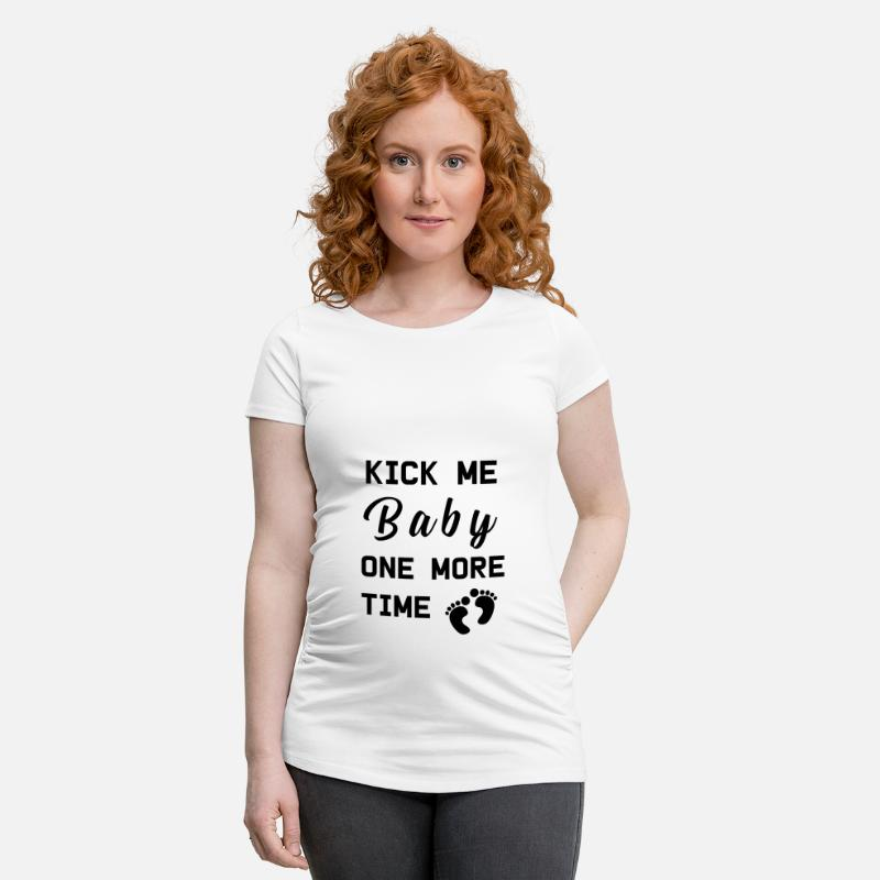 Funny T-Shirts - Pregnancy Baby belly baby - Maternity T-Shirt white