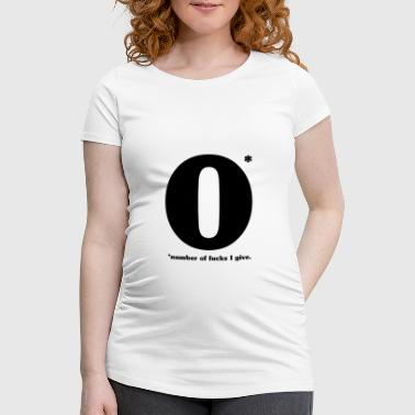 Number of fucks I give - Women's Pregnancy T-Shirt