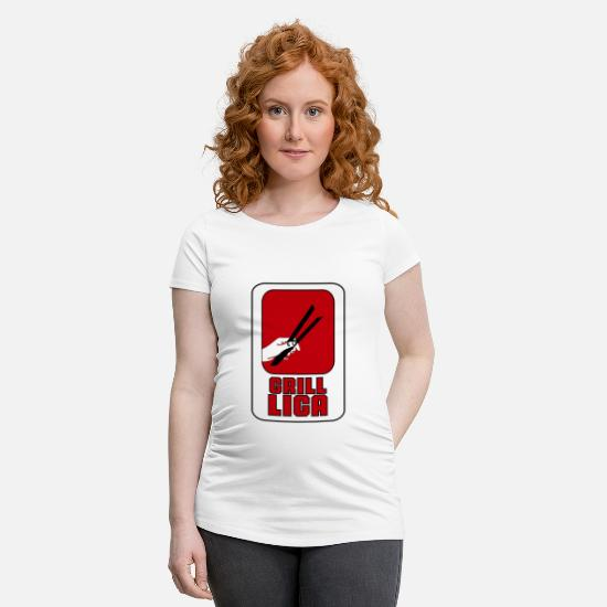 Fromage T-shirts - Barbecue barbecue - T-shirt de grossesse blanc