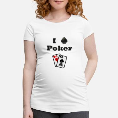As De Espadas Poker, as de espadas, ases, me encanta el poker, as pair - Camiseta premamá