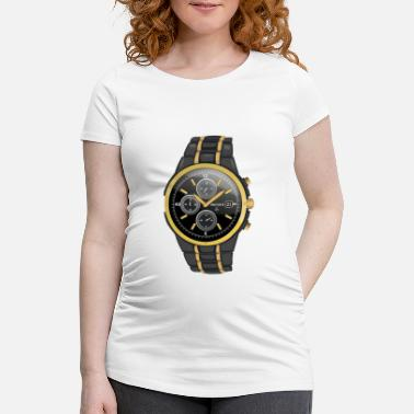 Watching watch - Maternity T-Shirt