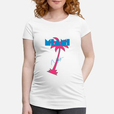 Retro Miami Retro Palm 80s - Maternity T-Shirt