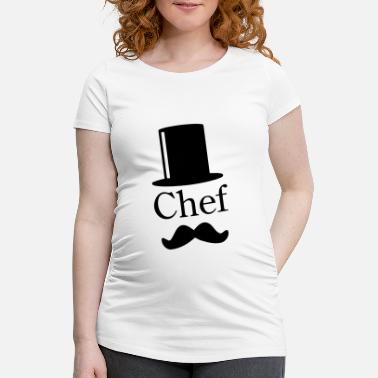 Like A Sir Like a Chef / Like a Sir / Mustache / Moustache 1c - Gravid T-shirt