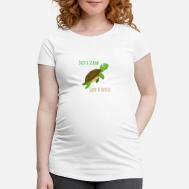Straw SKIP A STRAW - Women's Pregnancy T-Shirt