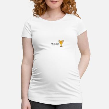 First Place Winner first place trophy - Women's Pregnancy T-Shirt