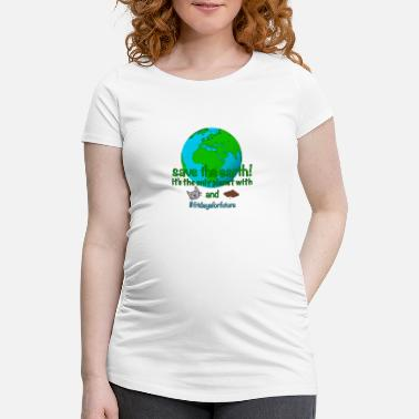 Planet Save the Earth Planet Cats Chocolate Gift - Maternity T-Shirt