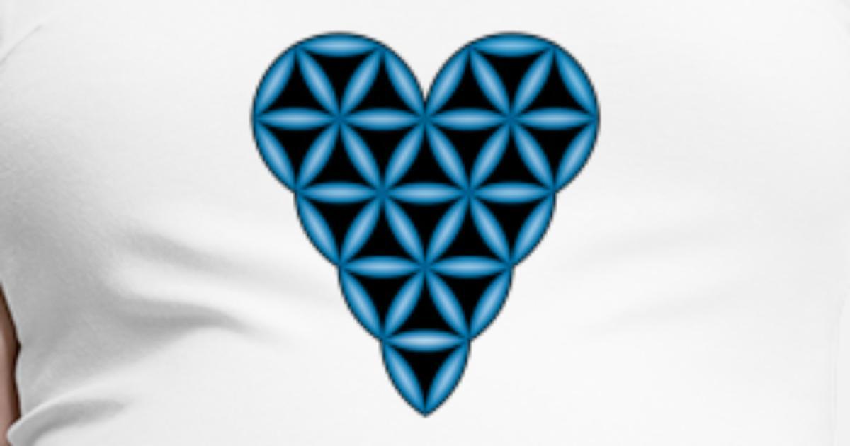 Livets hjerte x 1 Cyan Neon, 3D L Gravid T skjorte