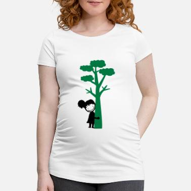 Tree tree hugger girl - Maternity T-Shirt