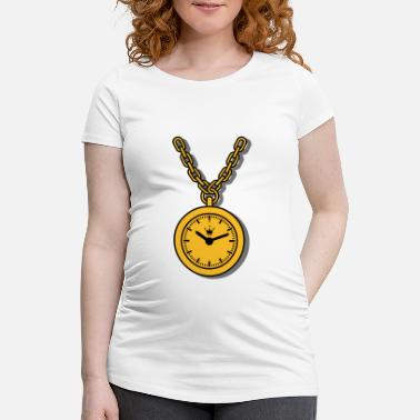 Clock clock chain - T-shirt de grossesse