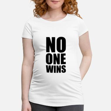 Krig no one wins - Gravid T-skjorte