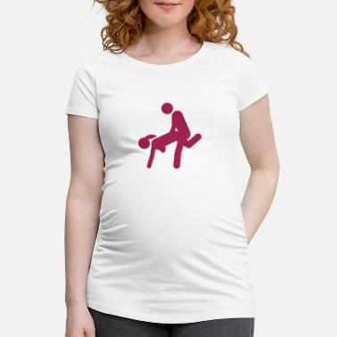 Kama Sutra sex couple love icon position kamas 7 - Maternity T-Shirt