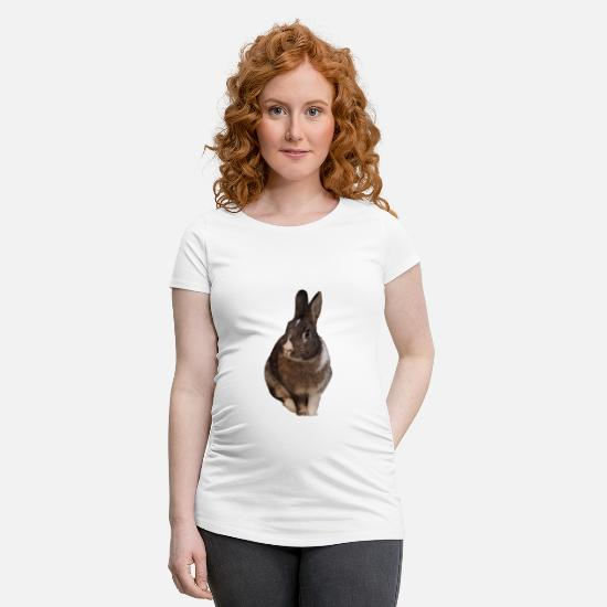 Rabbit T-Shirts - rabbit - Maternity T-Shirt white