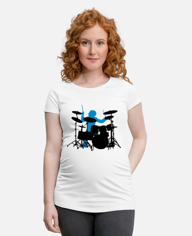 Drummer T-Shirts - Drums - Maternity T-Shirt white