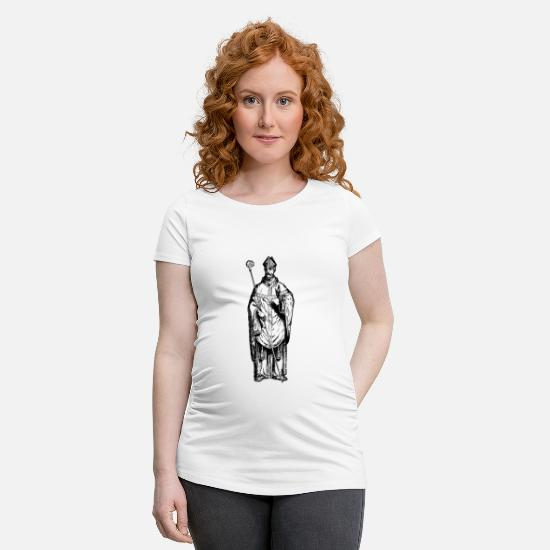 Vatican T-Shirts - Christianity - Maternity T-Shirt white
