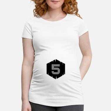 National Games Football shirt number legend 5 - Maternity T-Shirt