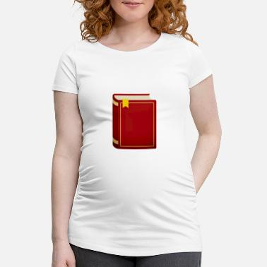Iconic Journalist Book library study school icon gift - Women's Pregnancy T-Shirt