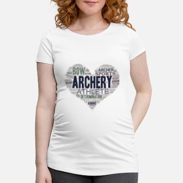 Long Tir à l'arc Bow Arrow Heart Archer Shooting Sport Gift - T-shirt de grossesse