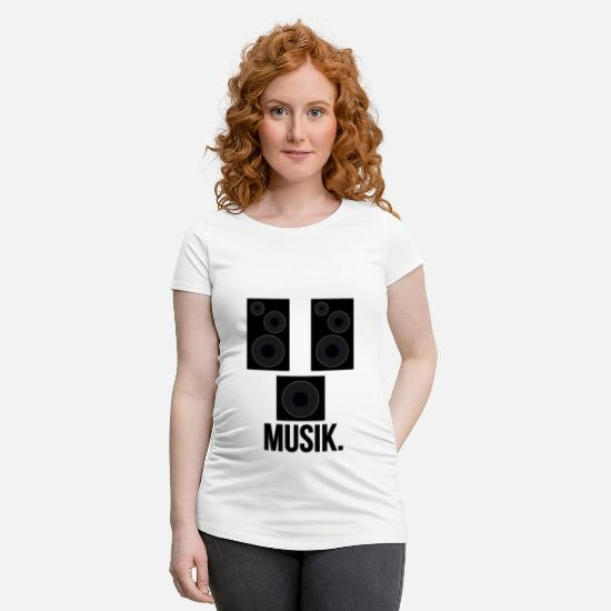 Style Of Music T-Shirts - Speaker boxes MUSIC - Maternity T-Shirt white