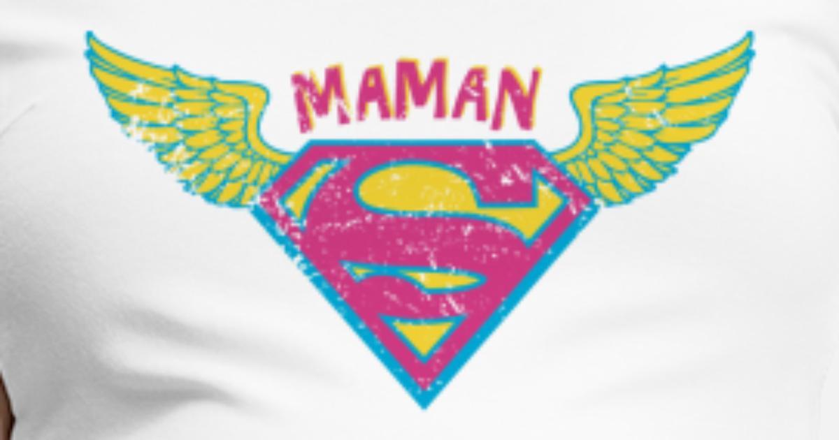 Superman Super Hero Mom Wings Pink Schwangerschafts T Shirt