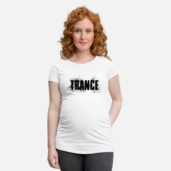 Raver T-shirts - Music Trance Gift Idea Spray Effect Techno - T-shirt de grossesse blanc