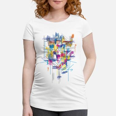 Abstract colorful scaffolding - Maternity T-Shirt