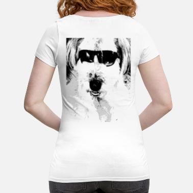 Fur Nose Dog, cute dog with sunglasses fur nose - Maternity T-Shirt