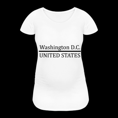 Washington DC US - Women's Pregnancy T-Shirt