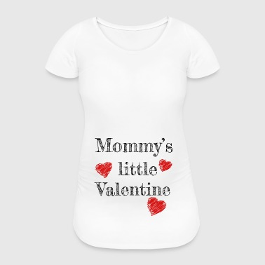 Saint-Valentin Maman Mommy's Little Valentine - T-shirt de grossesse Femme