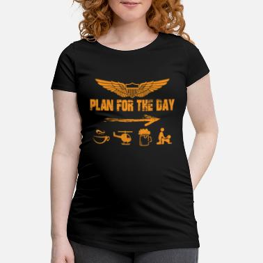 Plan Helikopter Pilot's Plan for the Day Daily Plan Pilot - Vente T-shirt