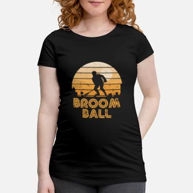 Obscure Retro Sunset Broomball - Maternity T-Shirt