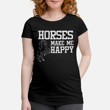 Stall Love horses stall riding - Maternity T-Shirt