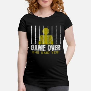 Gamers Gamers Game Over Engagement Fiance Men - Maternity T-Shirt