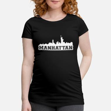 Nyc Manhattan Skyline NYC City USA - Schwangerschafts-T-Shirt