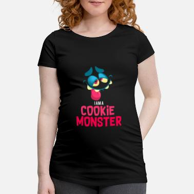 Cookie Monster Cookie monster gift funny christmas - Camiseta premamá