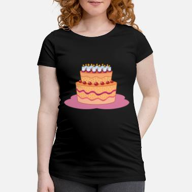 Huge birthday cake gift idea - Maternity T-Shirt