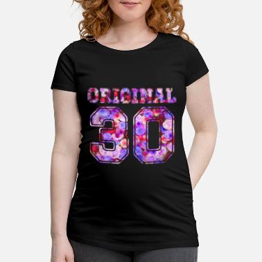 Over 30 Birthday 30 30 30 - Birthday Present Bday - T-skjorte for gravide kvinner