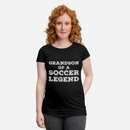 Soccer T-Shirts - Proud Grandson Of A Football Player Grandpa Gift - Maternity T-Shirt black