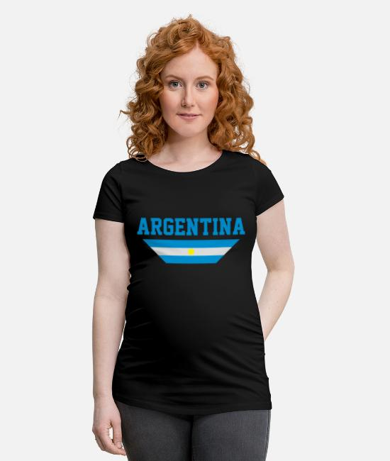 South America T-Shirts - Argentina - Maternity T-Shirt black