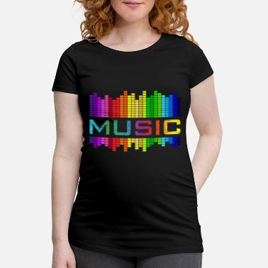 R&b Clothing Music Music Equalizer Rainbow Dance Rock Concert - Women's Pregnancy T-Shirt