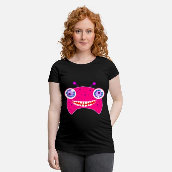 Gift Idea T-Shirts - Crazy monster - Maternity T-Shirt black
