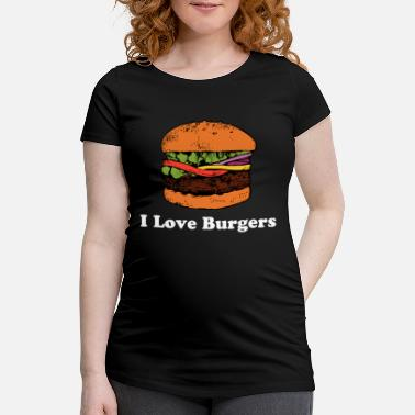 Cheeseburger J'aime la restauration rapide Burger Hamburger - T-shirt de grossesse