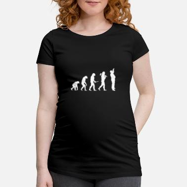 Chimpanze De Biere Evolution d'un homme - T-shirt de grossesse
