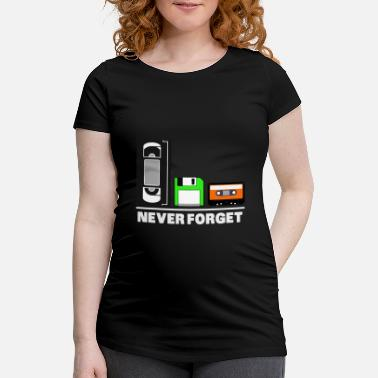 Never Forget RETRO: Never Forget video diskette Nørd - Vente T-shirt