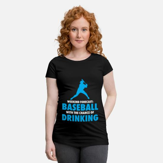 Catcheur T-shirts - Week-end de baseball - T-shirt de grossesse noir
