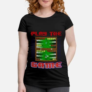 Kubus Backgammon bordspel cadeau - Zwangerschaps T-shirt