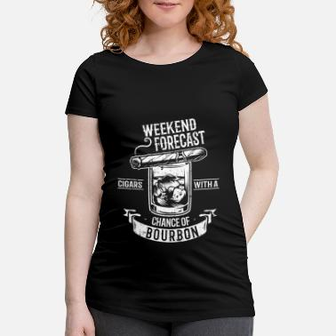 Weekend Cigar Cigars Smoking Gift - Maternity T-Shirt