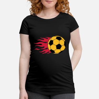 Striker burning ball - Maternity T-Shirt