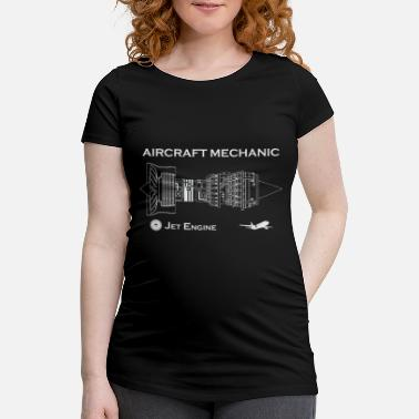 Flight Data Recorder Aircraft Mechanic - Jet Engine - Maternity T-Shirt