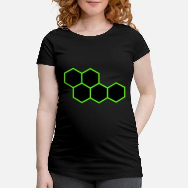 Hexagone Hexagones - T-shirt de grossesse