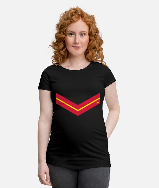 Red T-Shirts - Spain Style - Maternity T-Shirt black